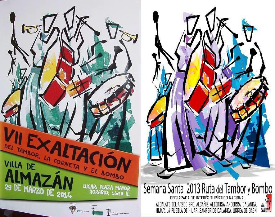 Plagio en el cartel de la Exaltación de Almazan (Soria)