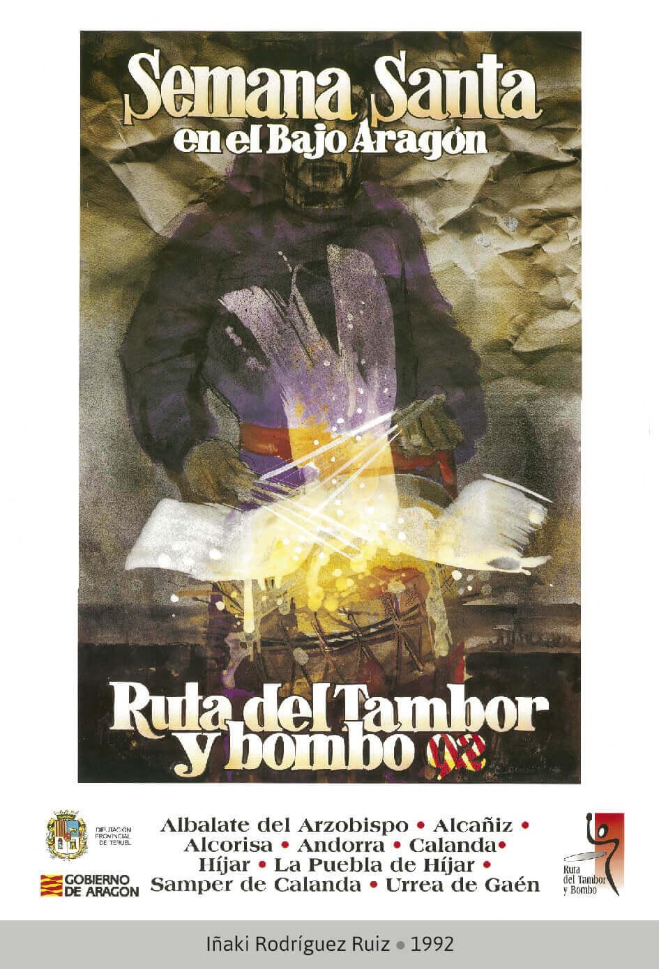 Cartel Ganador Ruta del Tambor y Bombo. Semana Santa 1992