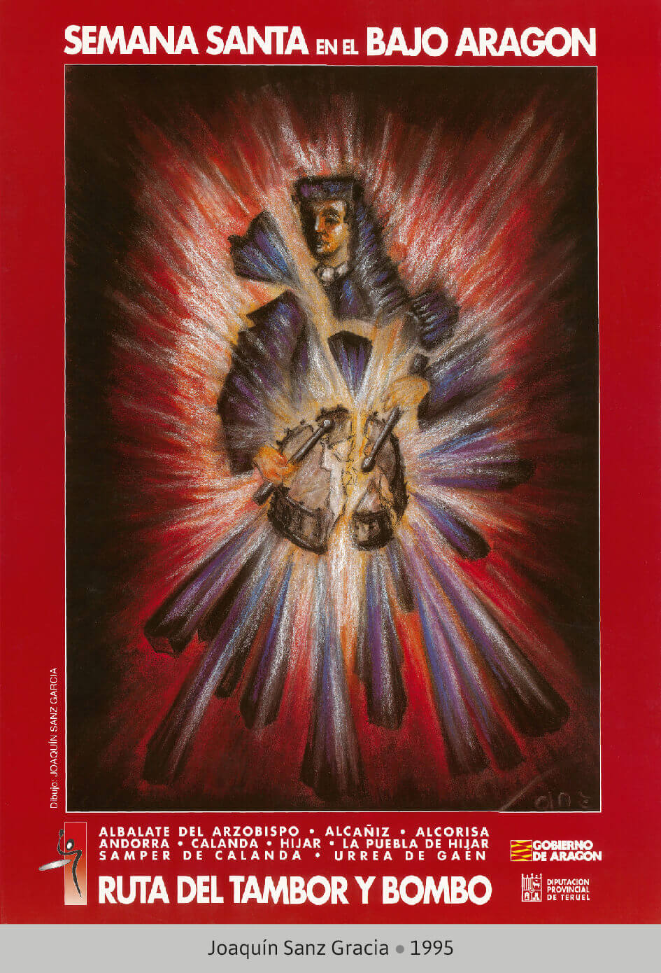 Cartel Ganador Ruta del Tambor y Bombo. Semana Santa 1995