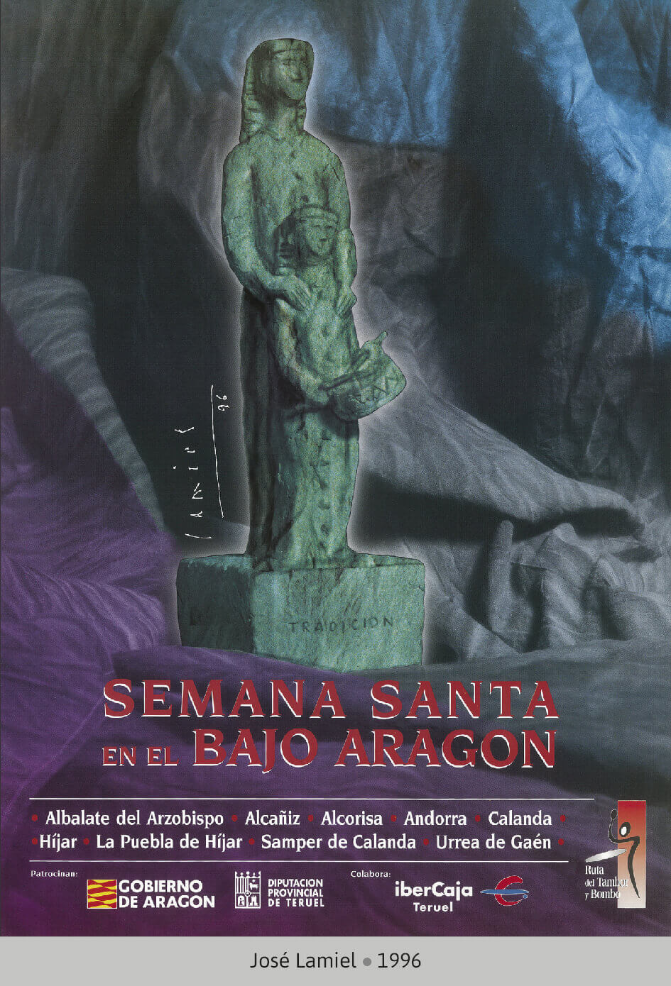 Cartel Ganador Ruta del Tambor y Bombo. Semana Santa 1996