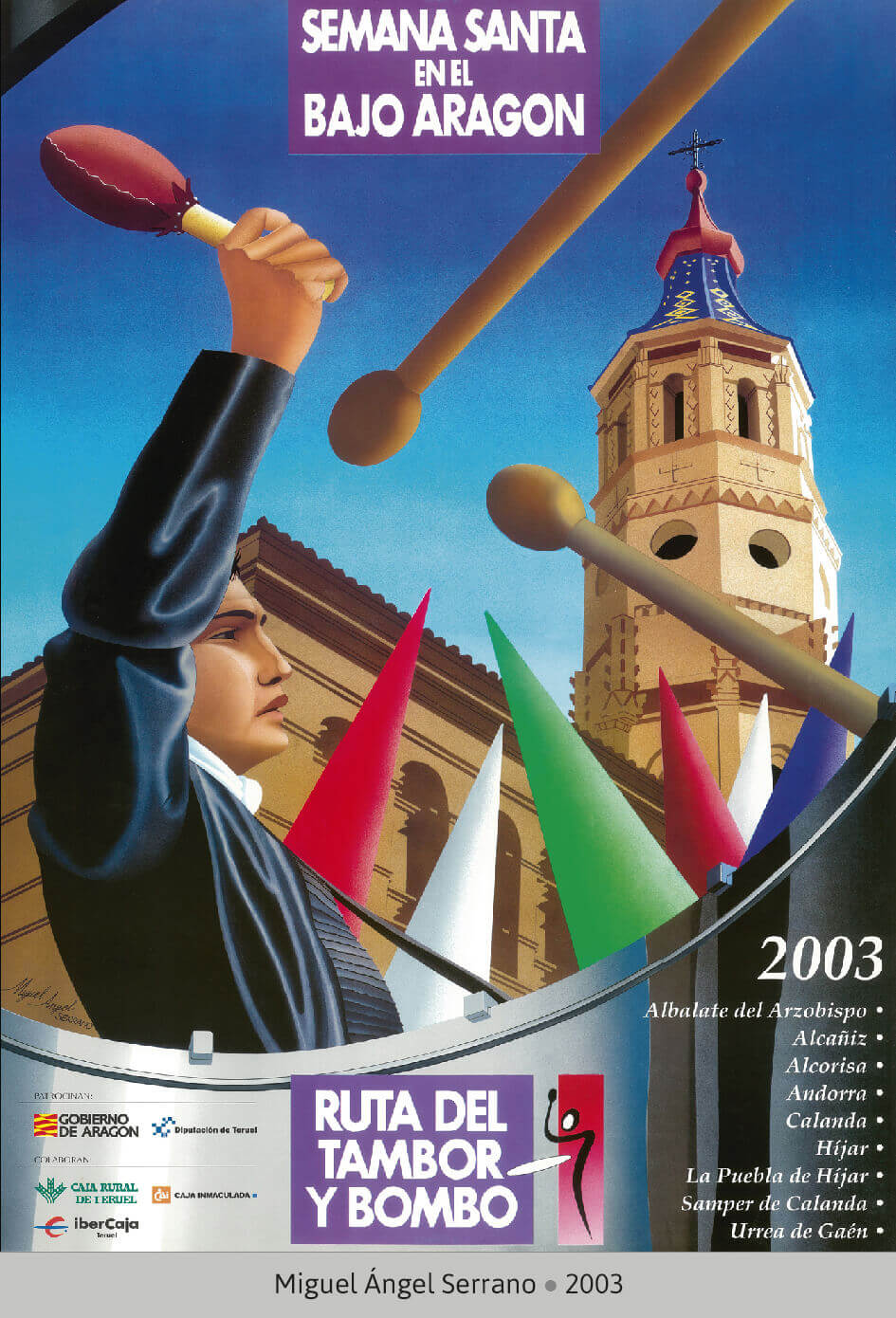 Cartel Ganador Ruta del Tambor y Bombo. Semana Santa 2003