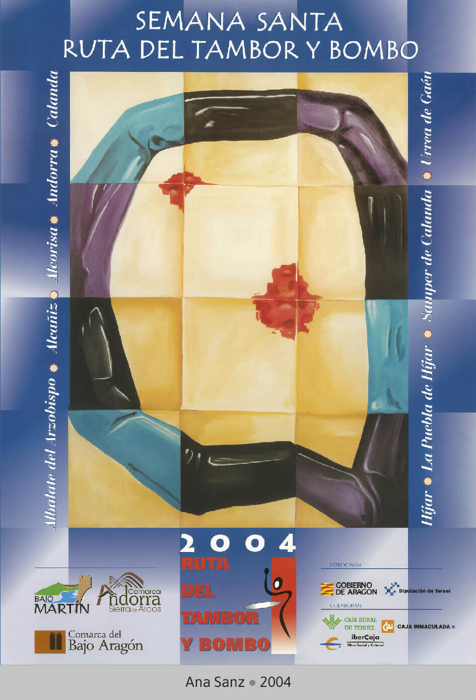 Cartel Ganador Ruta del Tambor y Bombo. Semana Santa 2004