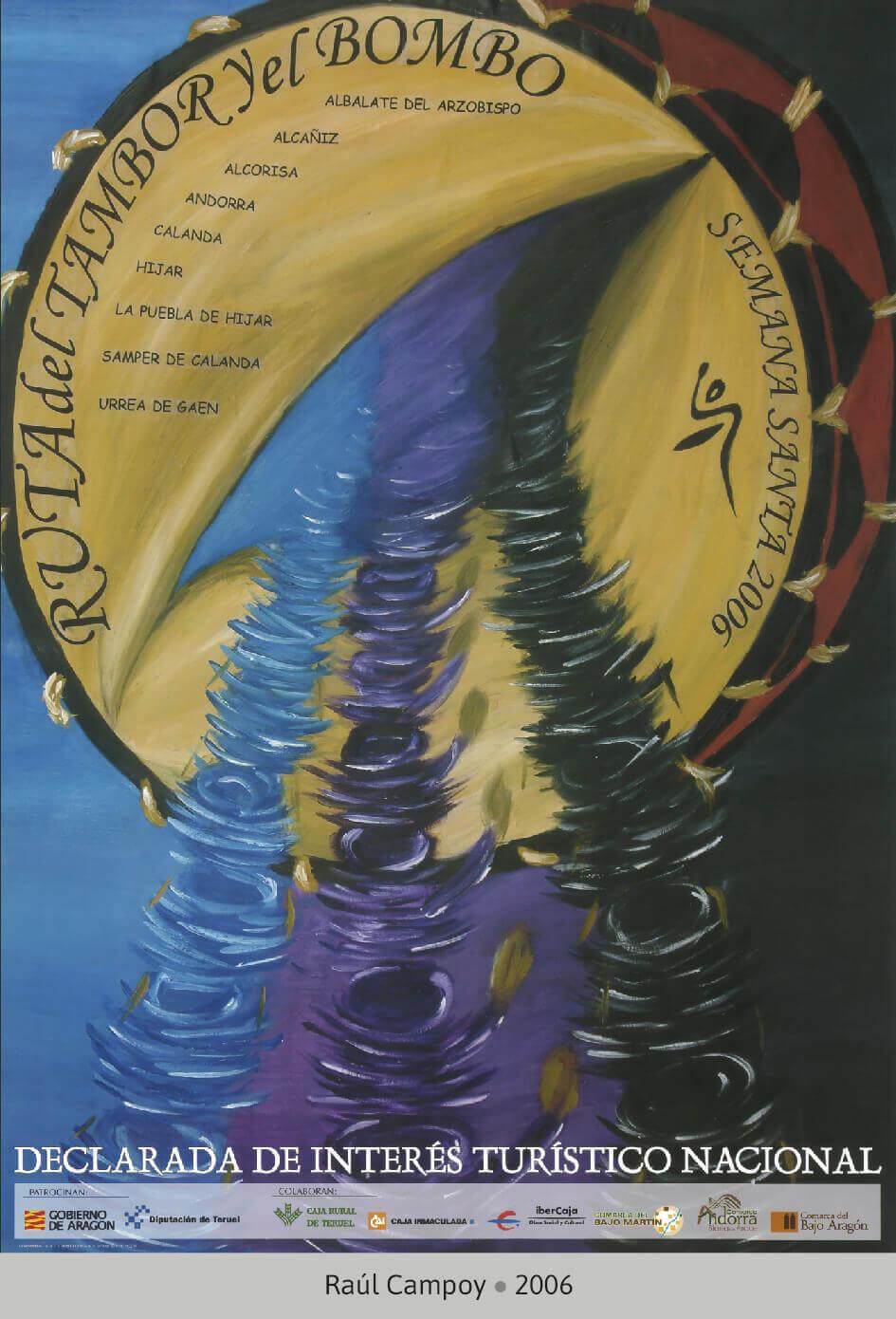 Cartel Ganador Ruta del Tambor y Bombo. Semana Santa 2006