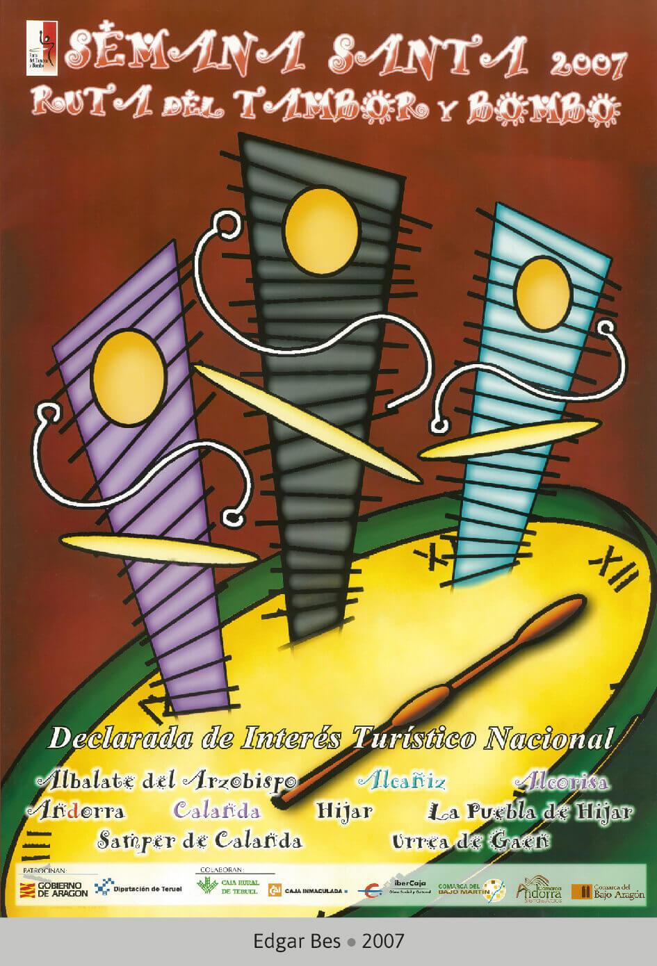 Cartel Ganador Ruta del Tambor y Bombo. Semana Santa 2007