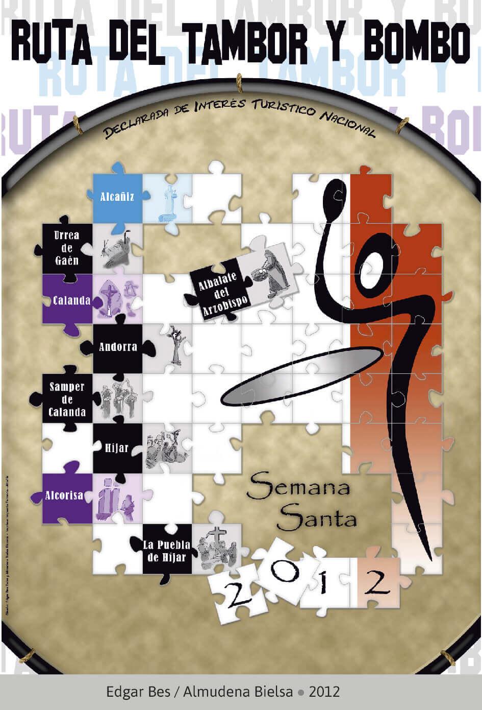 Cartel Ganador Ruta del Tambor y Bombo. Semana Santa 2012