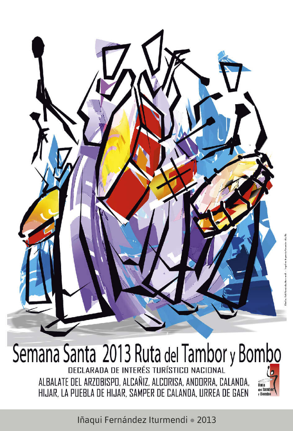 Cartel Ganador Ruta del Tambor y Bombo. Semana Santa 2013