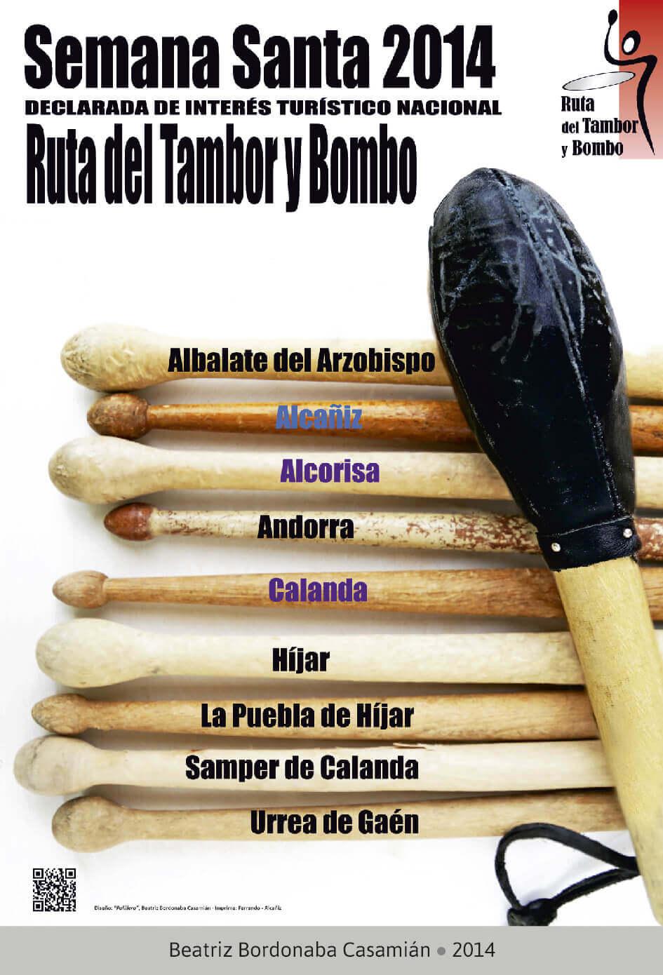 Cartel Ganador Ruta del Tambor y Bombo. Semana Santa 2014