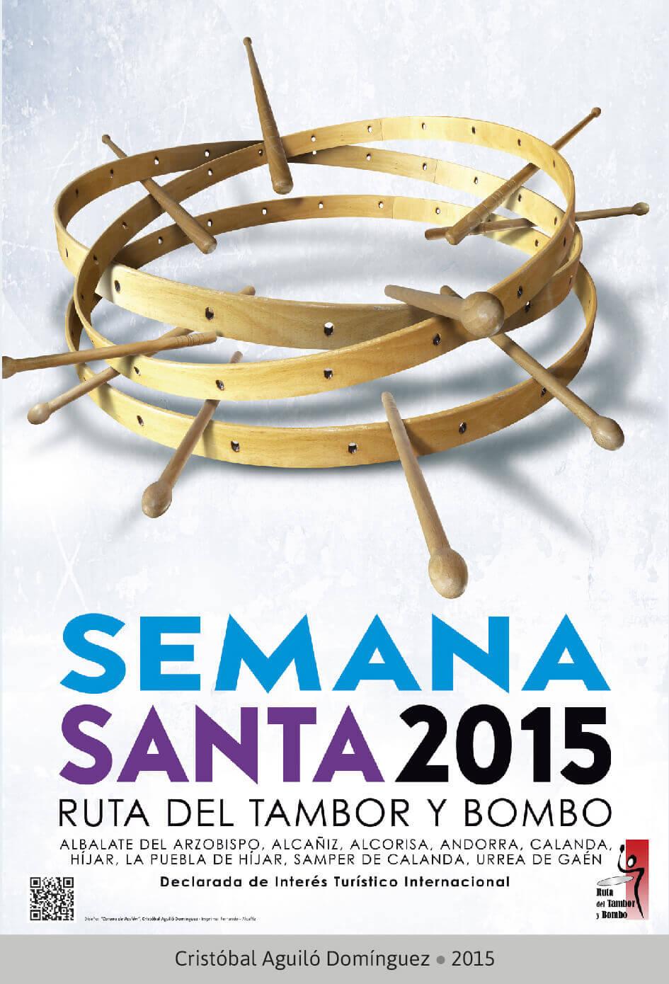 Cartel Ganador Ruta del Tambor y Bombo. Semana Santa 2015