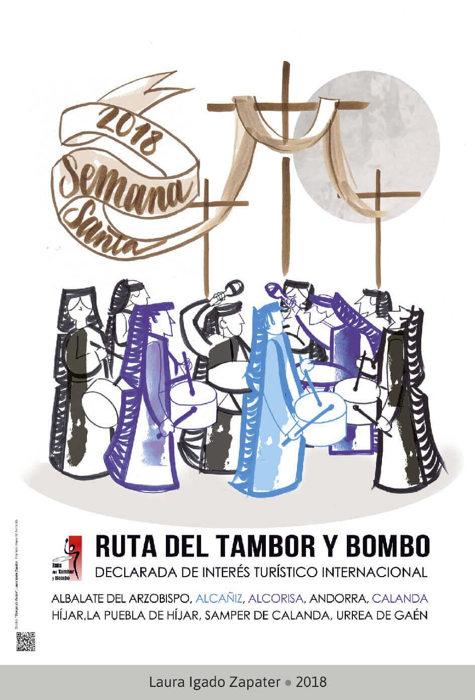 Cartel Ganador Ruta del Tambor y Bombo. Semana Santa 2018