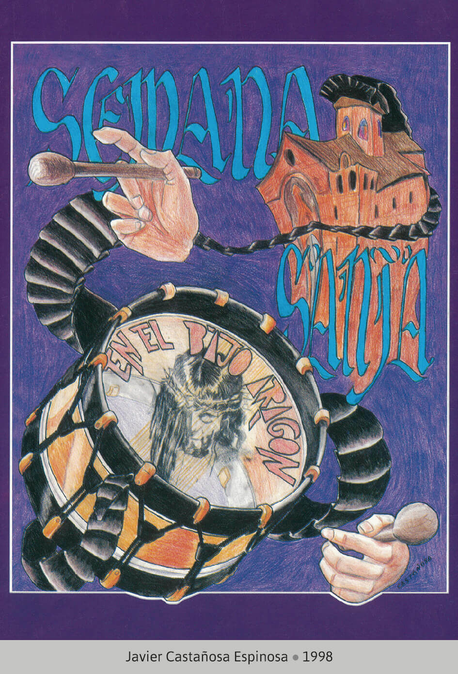 Cartel Ganador Ruta del Tambor y Bombo 1998
