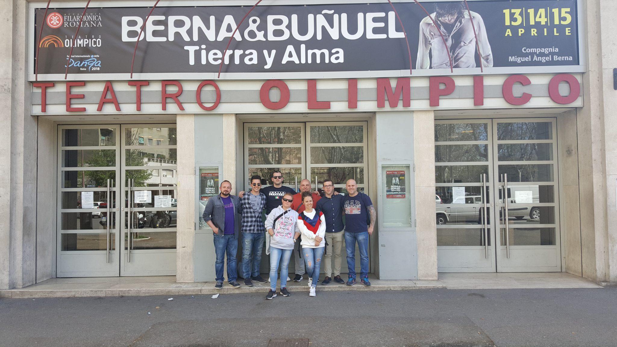 El Grupo de Tambores de Albalate en el Teatro Olímpico de Roma